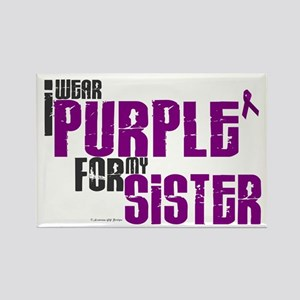 I Wear Purple For My Sister 6 (PC) Rectangle Magne