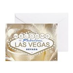 Fabulous Las Vegas White Satin Rose Cards 10