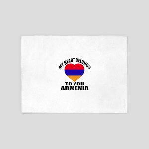 My Heart Belongs To You Armenia Cou 5'x7'Area Rug
