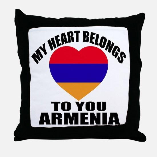 My Heart Belongs To You Armenia Count Throw Pillow