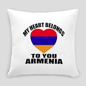 My Heart Belongs To You Armenia Co Everyday Pillow