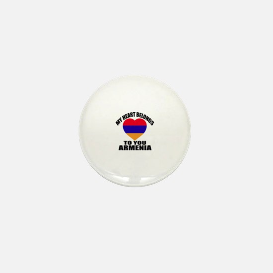 My Heart Belongs To You Armenia Countr Mini Button