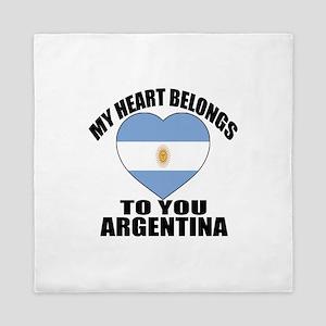 My Heart Belongs To You Argentina Coun Queen Duvet