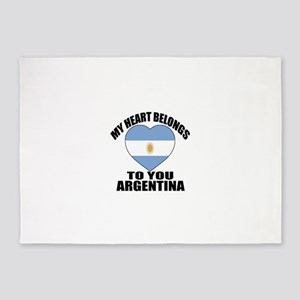 My Heart Belongs To You Argentina C 5'x7'Area Rug