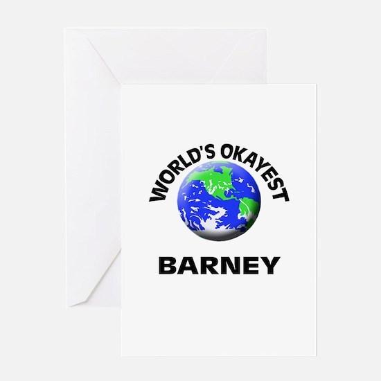 World's Okayest Barney Greeting Cards