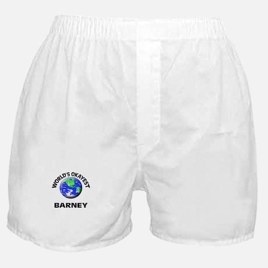 World's Okayest Barney Boxer Shorts