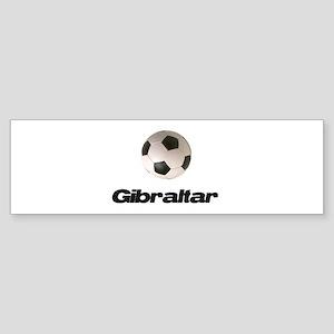 Gibraltar Soccer Bumper Sticker