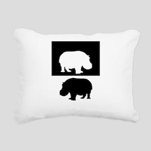 Hippopotamus Rectangular Canvas Pillow