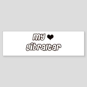 my heart Gibraltar Bumper Sticker
