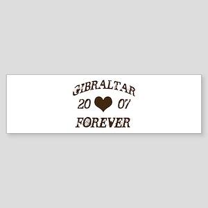 Gibraltar Forever Bumper Sticker