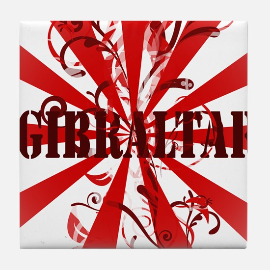 Red vintage Gibraltar Tile Coaster