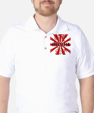 Red vintage Gibraltar Golf Shirt