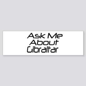 Askme about Gibraltar Bumper Sticker