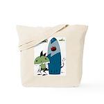 KID FIN surfin' Tote Bag