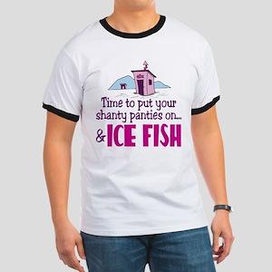 Shanty Panties Ice Fishing Ringer T