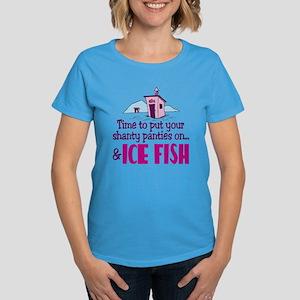 Shanty Panties Ice Fishing Women's Dark T-Shirt