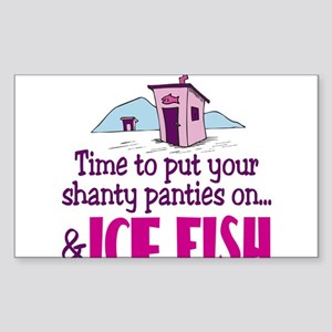 Shanty Panties Ice Fishing Rectangle Sticker