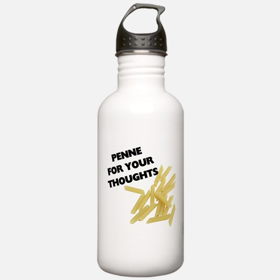 Penne For Your Thought Water Bottle