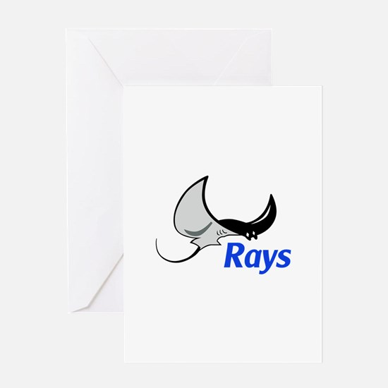 Rays Mascot Greeting Cards