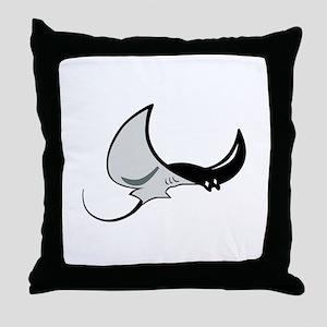Stingray Mascot Throw Pillow