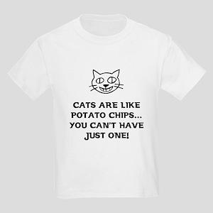 Cats are like Potato Chips Kids Light T-Shirt