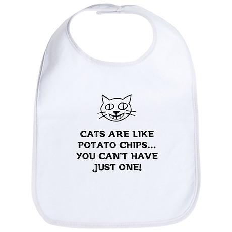 Cats are like Potato Chips Bib