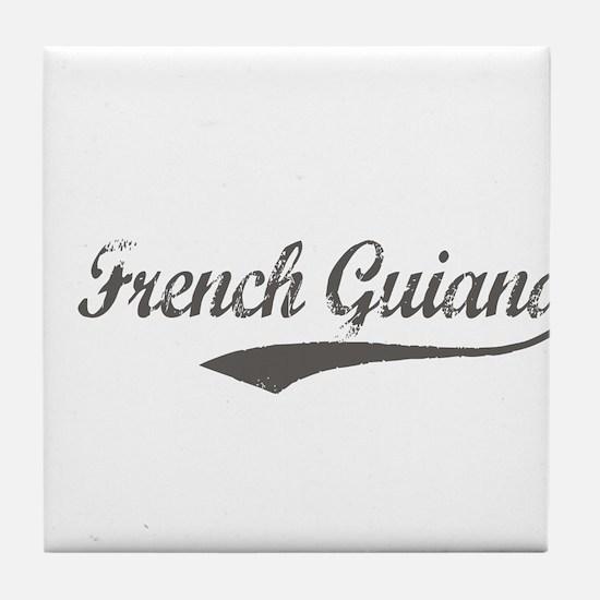 French Guiana flanger Tile Coaster