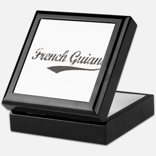 French Guiana flanger Keepsake Box