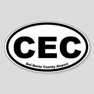 Del Norte County Airport Oval Sticker