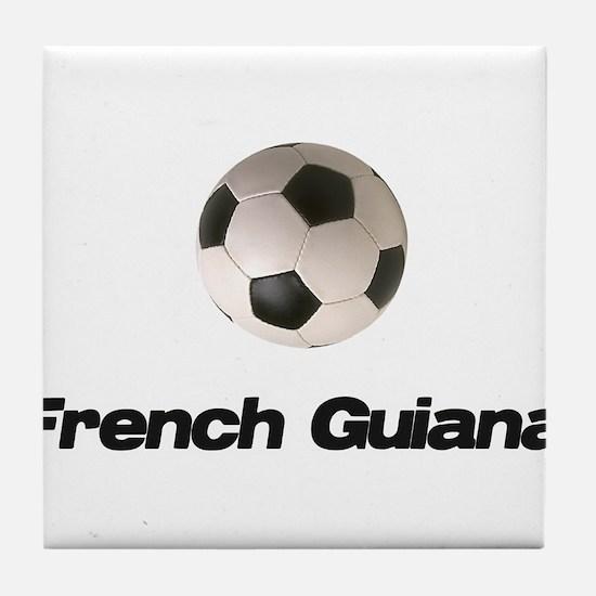 French Guiana Soccer Tile Coaster