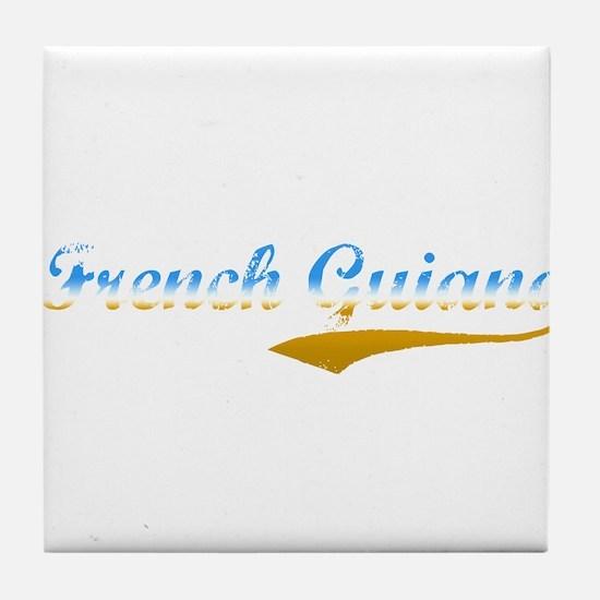 French Guiana beach flanger Tile Coaster