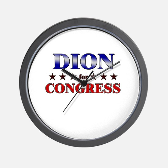 DION for congress Wall Clock