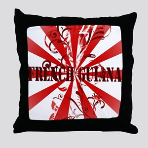 French Guiana red vintage Throw Pillow