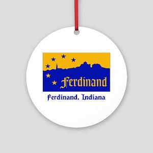 Ferdinand IN Flag Ornament (Round)