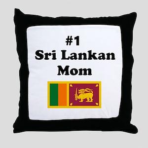 #1 Sri Lankan Mom Throw Pillow