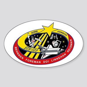 STS 123 Endeavour Oval Sticker