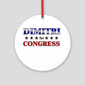 DIMITRI for congress Ornament (Round)