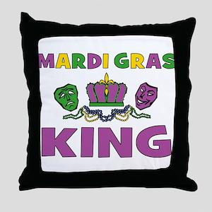 Mardi Gras King Throw Pillow