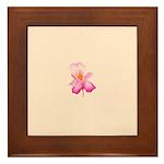Framed Ceramic Flower Tile