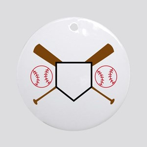 Baseball Design Round Ornament