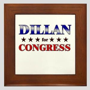 DILLAN for congress Framed Tile
