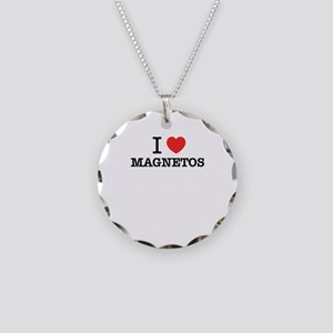 I Love MAGNETOS Necklace Circle Charm