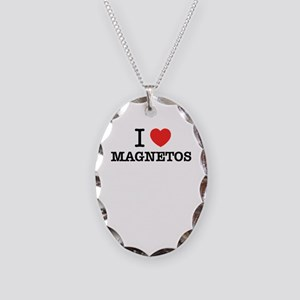 I Love MAGNETOS Necklace Oval Charm