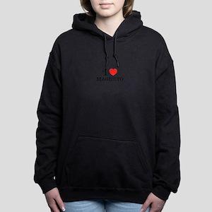 I Love MAGNETO Women's Hooded Sweatshirt