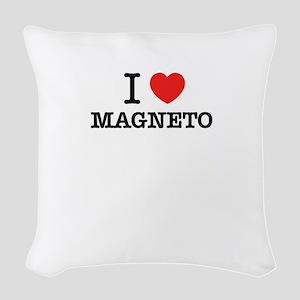 I Love MAGNETO Woven Throw Pillow