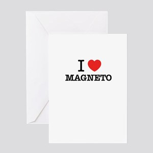 I Love MAGNETO Greeting Cards