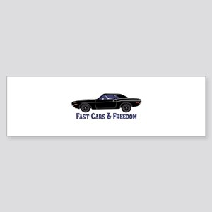 Fast Cars And Freedom Bumper Sticker