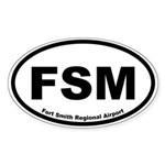 Fort Smith Regional Airport Oval Sticker