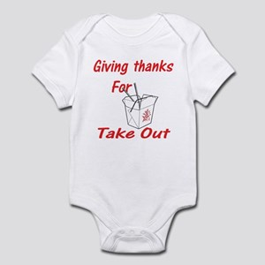 Giving Thanks for Take Out Infant Bodysuit