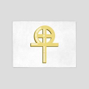 Gnostic Cross 5'x7'Area Rug